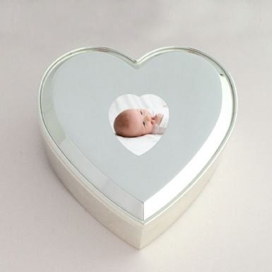 Small Heart Keepsake Box with Photo | Someone Remembered